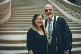 Rafat Al Shimali und seine Frau